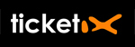 Logo Ticketix corporate couleur sur fond noir